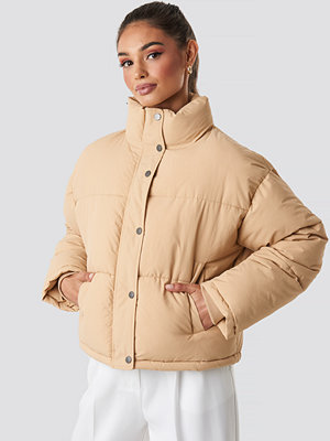 NA-KD Short Padded Jacket beige