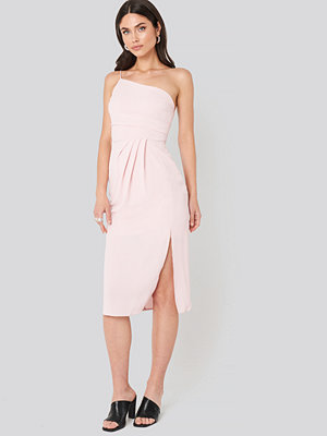 Trendyol Thin Strap One Shoulder Midi Dress rosa