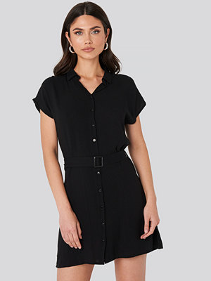 Trendyol Belted Shirt Mini Dress svart