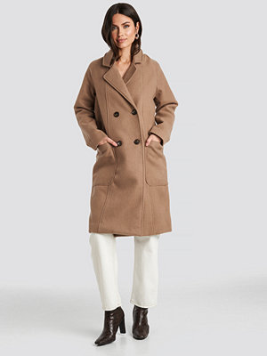 NA-KD Trend Big Pocket Coat beige