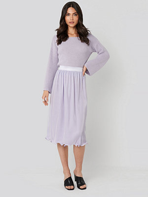 NA-KD Trend Pleated Detailed Hem Skirt lila
