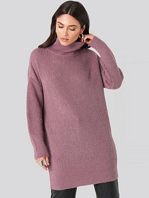 NA-KD Oversized Roll Neck Sweater lila