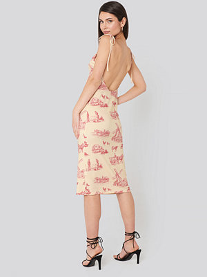 NA-KD Open Back Shift Midi Dress multicolor