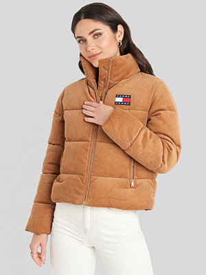 Tommy Jeans Cord Puffa Jacket brun