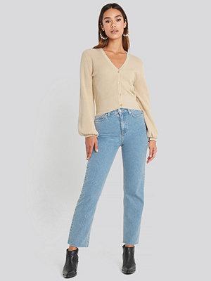 Chloé B x NA-KD Straight Leg Jeans blå