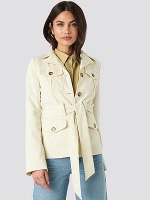NA-KD Trend Detailed Blazer beige