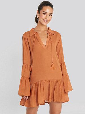 Trendyol Tasseled Mini Dress orange