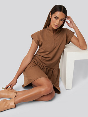 Trendyol Zip Detailed Mini Dress brun