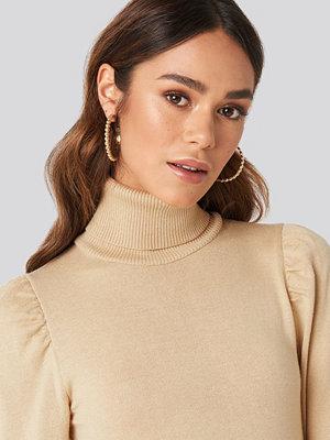 Hanna Weig x NA-KD smycke Bubbly Large Hoop Earrings guld