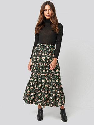 NA-KD Belted Floral Midi Skirt multicolor
