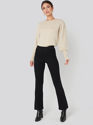NA-KD svarta byxor High Waist Flare Jersey Pants svart