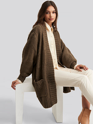 Trendyol Pocket Detailed Cardigan brun