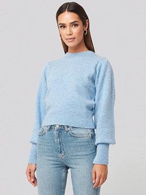 Hanna Weig x NA-KD Balloon Sleeve Sweater blå