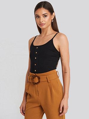 Trendyol Button Detailed Knitted Crop Top svart