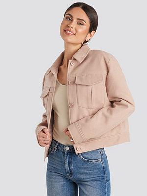 NA-KD Classic Big Pocket Short Jacket rosa