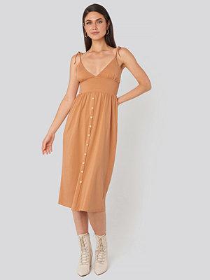 Beyyoglu Button Detailed Cotton Dress rosa