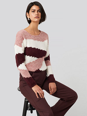 Trendyol Color Blocked Knitted Sweater rosa multicolor