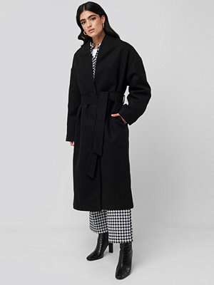 NA-KD Classic Classic Long Coat svart