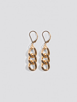 NA-KD Accessories smycke Short Chain Earrings guld