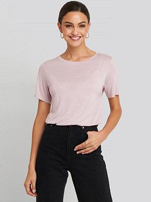 T-shirts - NA-KD Basic Viscose Basic Tee rosa
