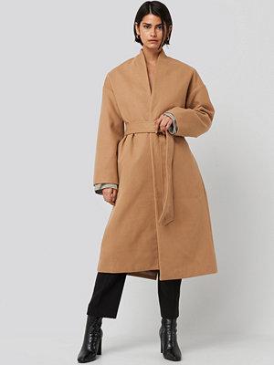 NA-KD Classic Classic Long Coat beige