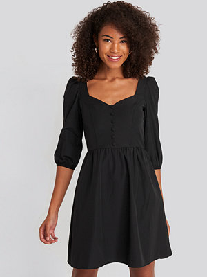Trendyol Collar Detailed Mini Dress svart