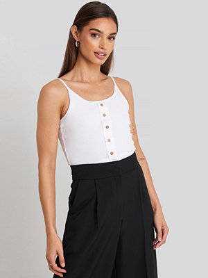 Trendyol Button Detailed Knitted Crop Top vit