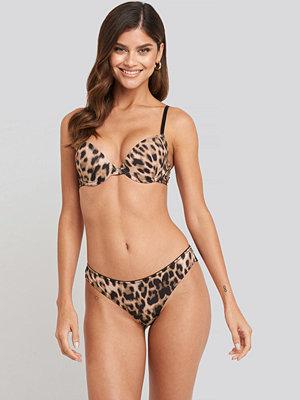 NA-KD Lingerie Leopard Lace Back Panty multicolor
