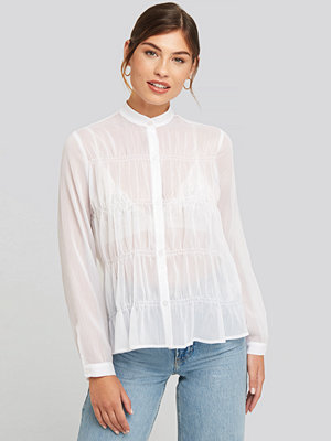 NA-KD Boho Gatherings Detail Chiffon Shirt vit