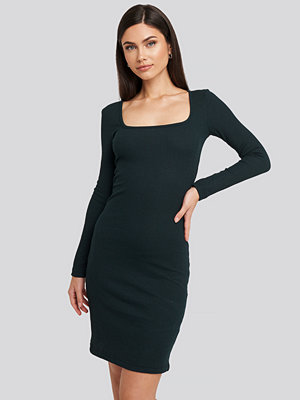 Trendyol Square Neck Jersey Dress grön