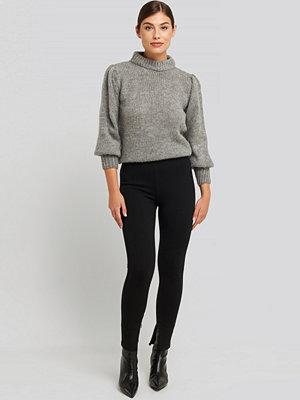 Leggings & tights - NA-KD Zip Detail Jersey Pants svart