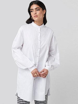 Skjortor - NA-KD Classic Oversized Cotton Shirt Dress vit