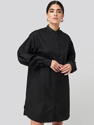 Skjortor - NA-KD Classic Oversized Cotton Shirt Dress svart