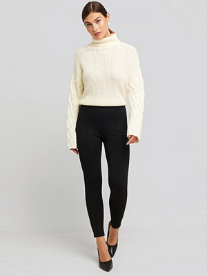 Leggings & tights - NA-KD Front Seam Jersey Pants svart