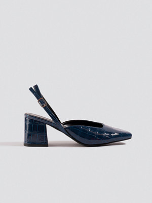 NA-KD Shoes Squared Slingback Pumps blå