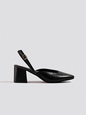 NA-KD Shoes Squared Slingback Pumps svart