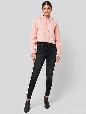 Jeans - Calvin Klein High Rise Skinny Ankle Denim Jeans svart