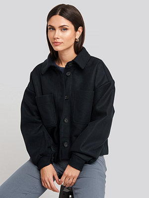 NA-KD Big Sleeve Oversized Jacket blå