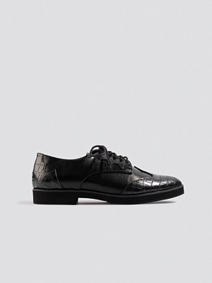 NA-KD Shoes Western Derby Shoe svart