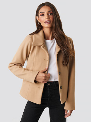 Rut & Circle Tuva Short Coat beige