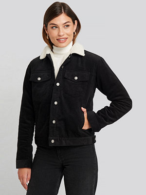 Dr. Denim Sana Sherpa Jacket svart