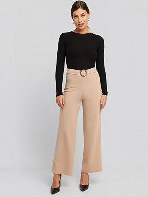 Sisters Point Galma Pants beige byxor