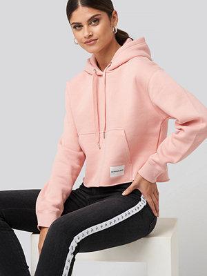 Tröjor - Calvin Klein Raw Hem Hoodie rosa