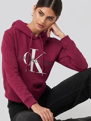 Tröjor - Calvin Klein Monogram Boxy Hoodie lila