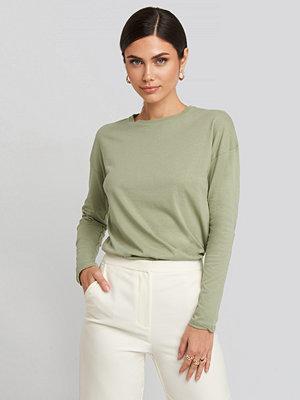 NA-KD Basic Long Sleeve Basic Top grön