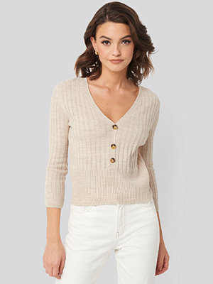 Mango Ribetto Sweater beige