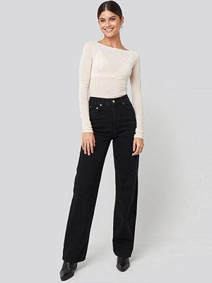 NA-KD Trend Wide Leg Highwaisted Denim svart