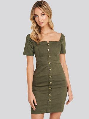 Trendyol Mini Button Dress grön