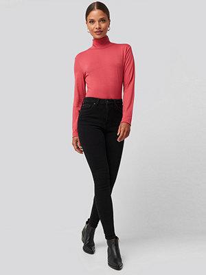 Jeans - Trendyol High Waist Skinny Jeans svart