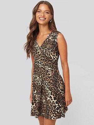 Trendyol Leopard Pattern Mini Dress multicolor